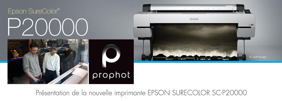 Présentation de l'imprimante Epson Sure Colore P20000