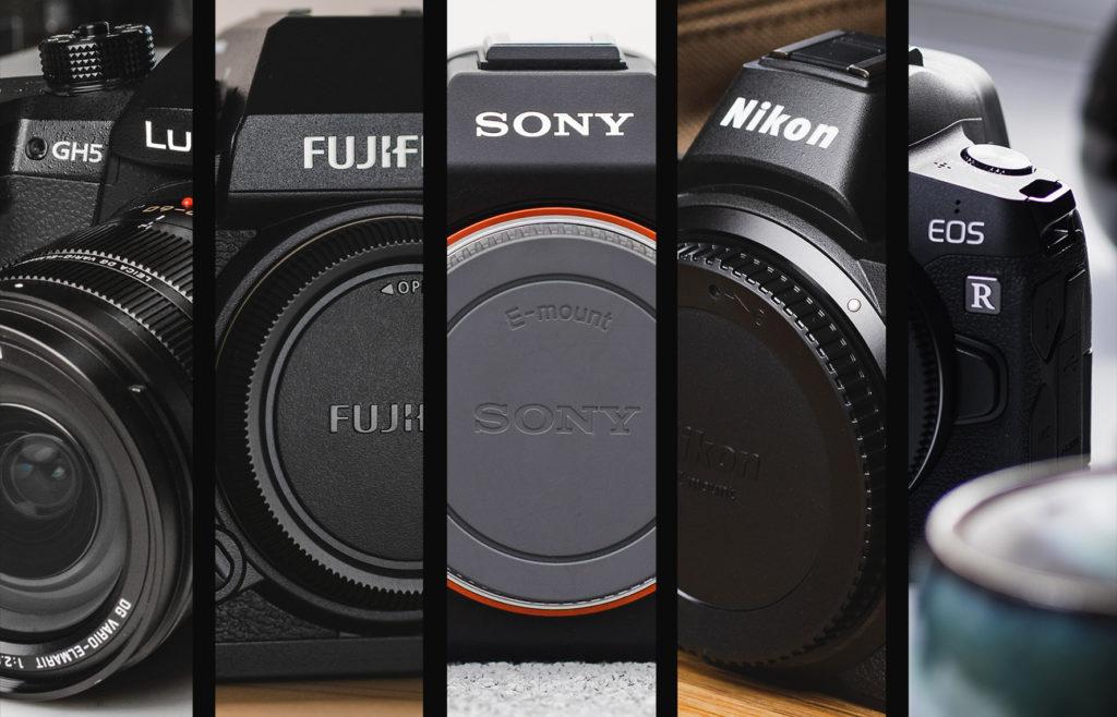 Appareil Lumix GH5, Canon EOS R, Fujifilm, Sony et Nikon.